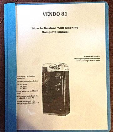 Vendo 81 Service Manual in PDF, Nostalgia Tymes