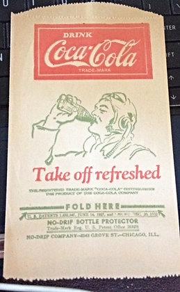 1932 Coca-Cola NO-DRIP BOTTLE PROTECTOR
