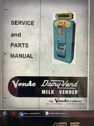 Vendo Milk Vendor Service & Parts Manual in PDF