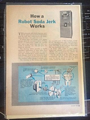 """1952 """"Robot Soda Jerk Works"""" Drink Dispenser"""