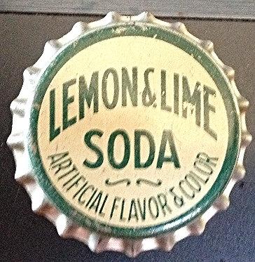50's Lemon & Lime Soda Unused Cork Lined