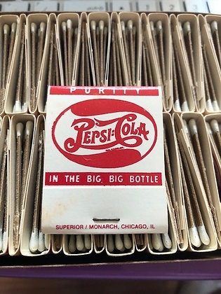 Pepsi Cola Double Dot Match Book Red Pack Unused 50 Books
