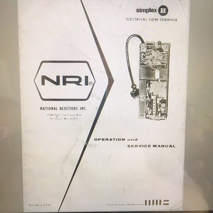 National Rejectors Simplex II Electric Coin Changer