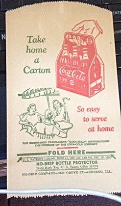 1932 Coca-Cola NO DRIP BOTTLE PROTECTOR