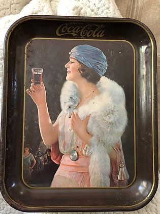 1925 Original Party Girl Coca-Cola Serving Tray