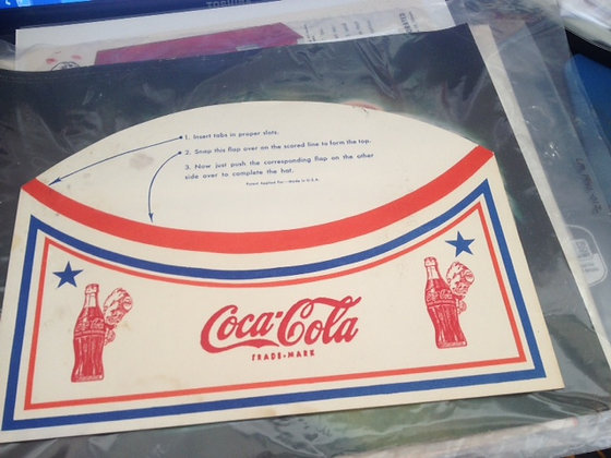 Original Coca-Cola Soda Jerk Hat  1950's Mint