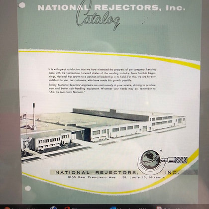 National Slug Rejector Catalog