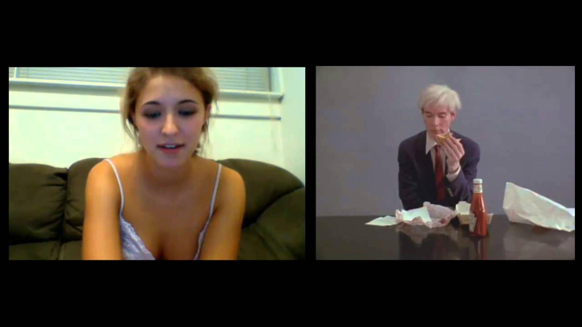 Andy Warhol eating a hamburger X Sexy Chat