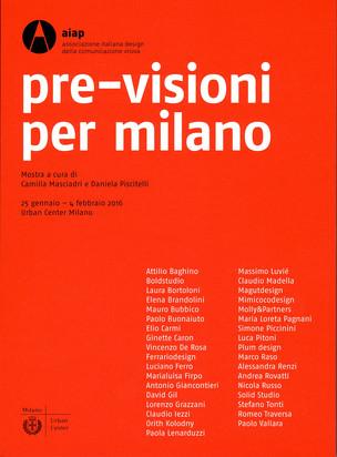 Pre-visioni per Milano, poster