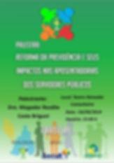 """O IPMP convida os servidores efetivos a participar da palestra técnica a ser proferida pela Dra. Magadar Briguet com o tema: """"A REFORMA DA PREVIDENCIA E SEUS IMPACTOS NAS APOSENTADORIAS DOS SERVIDORES PUBLICOS"""". O evento será realizado no Teatro Reinaldo Castanheira as 15h00min horas do dia 03/09/2019. Contamos com a sua presença."""