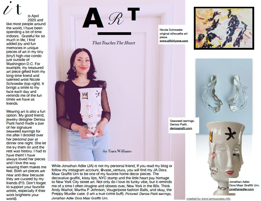 Article layout for Vase Ventura Blog