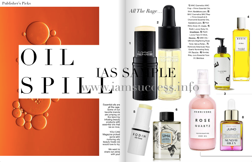 Oil Spill page. Vol 5 You can magazine