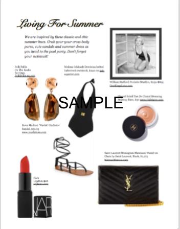 Fashion Layout Sample