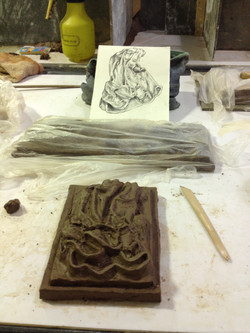 clay sculpting from sketch