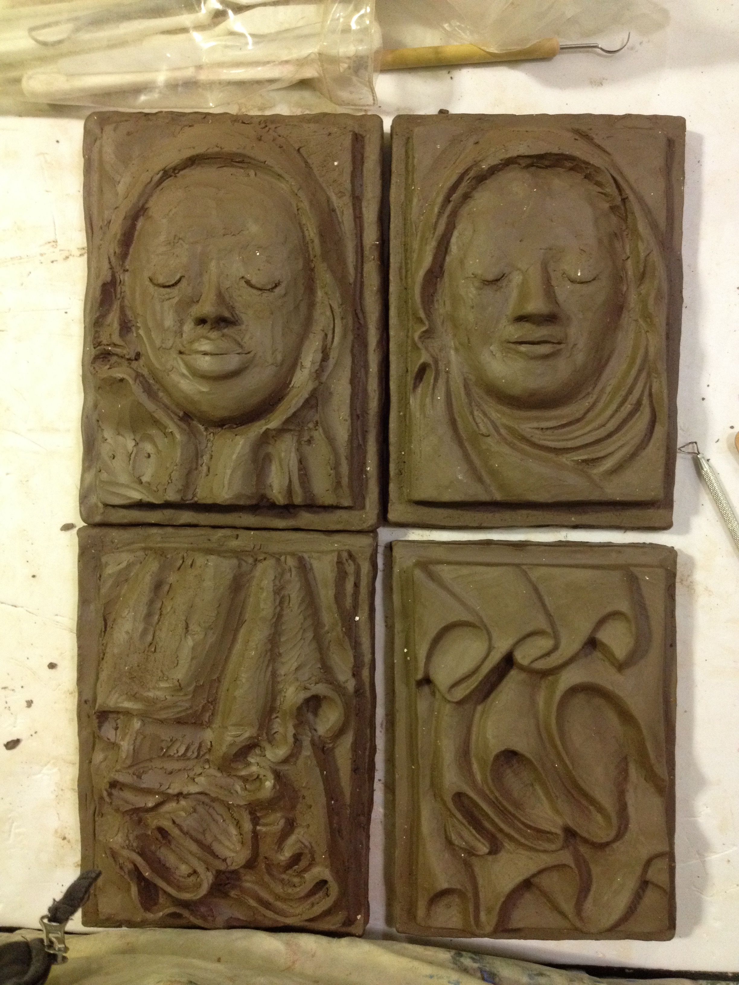 clay sculpting for plaster casting