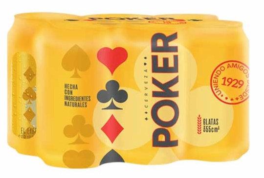Cerveza Poker Six Pack 355ml