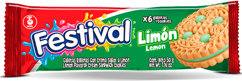 Galletas Festival Limón Pet 50g