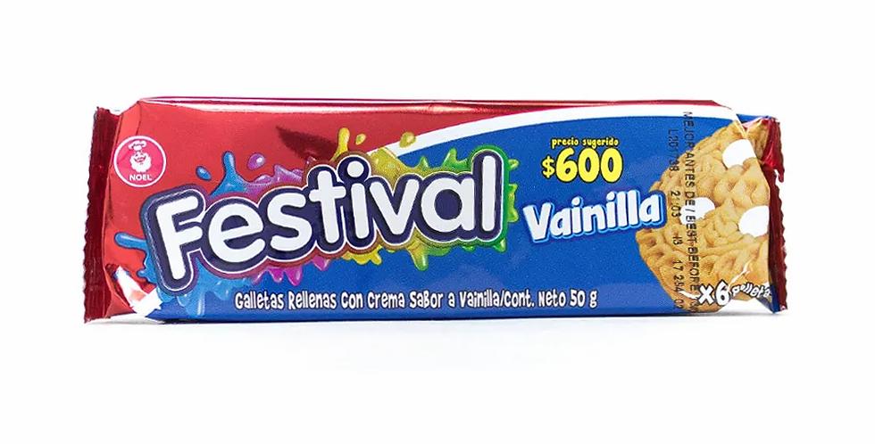 Galletas Festival Vainilla Pet 50g