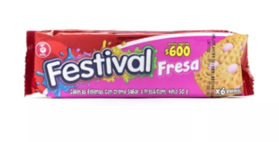 Galletas Festival Fresa Pet 50g