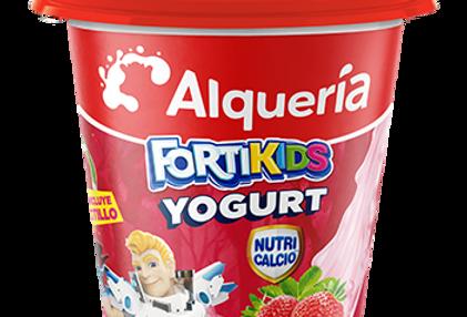 Yogurt Alqueria FortiKids Fresa Pet 150G