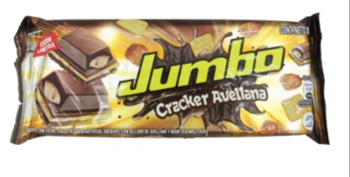Chocolatina Jumbo Cracker Avellana Pet