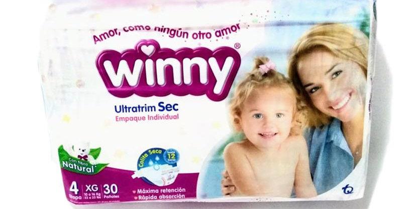 Pañales Winny Ultratrim Sec Etapa 4