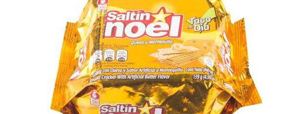 Taco Galletas Saltin Noel Queso y Mantequilla Pet