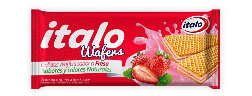 Galletas Wafers Fresa Italo Pet 117G
