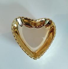 suporte doces coração dourado