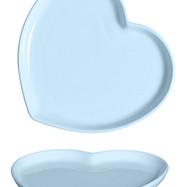 Prato Coração azul bebe