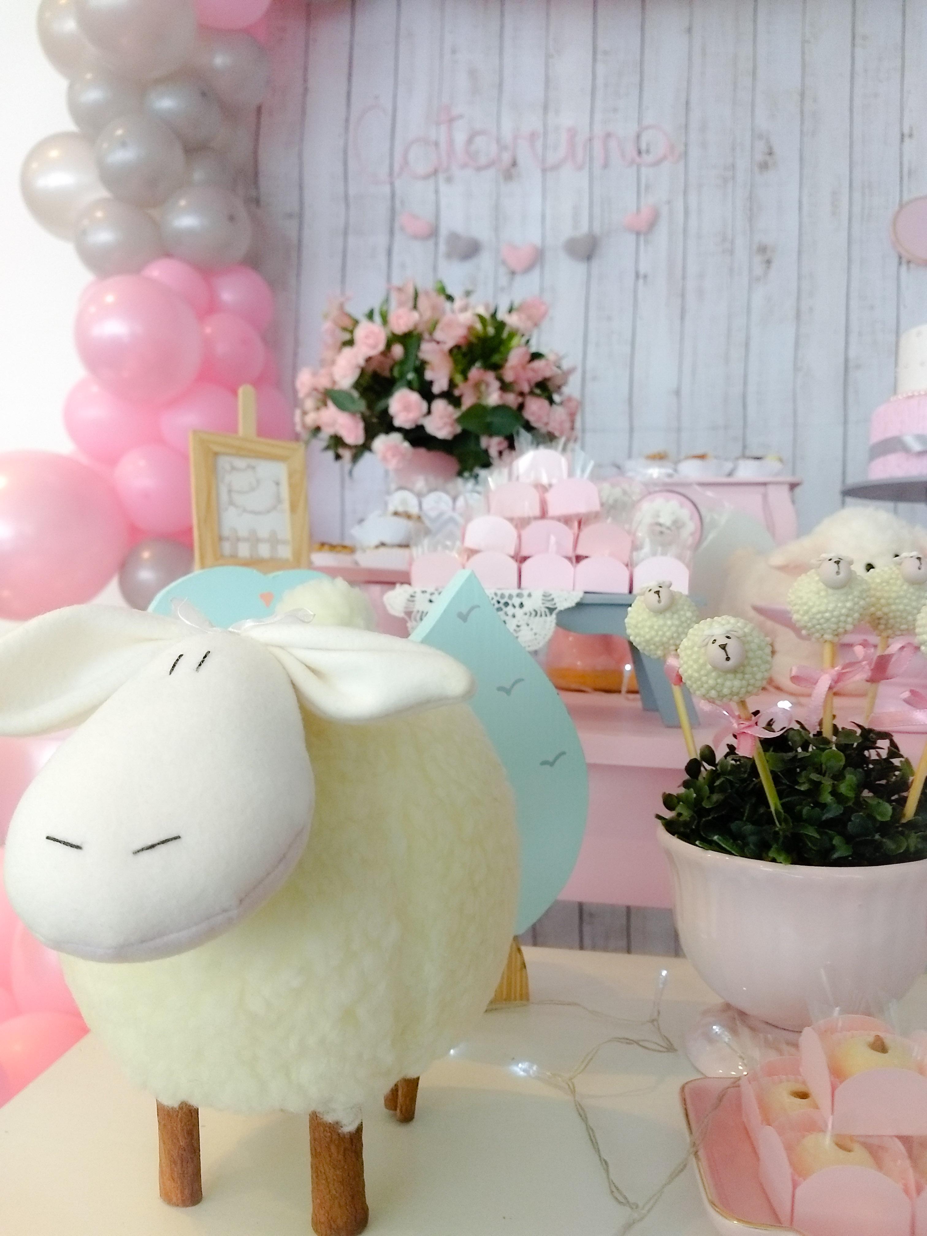 chá de bebê ovelhinhas