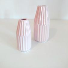 Vasos geometricos rosa bebe