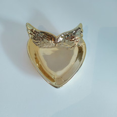 ssuporte coração dourado asas