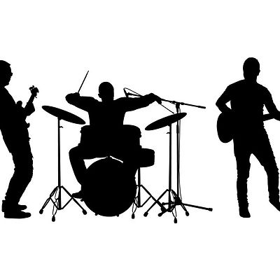 rock-and-roll-band-silhouette-guitar-and