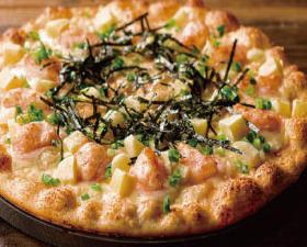 明太子と餅のピザ
