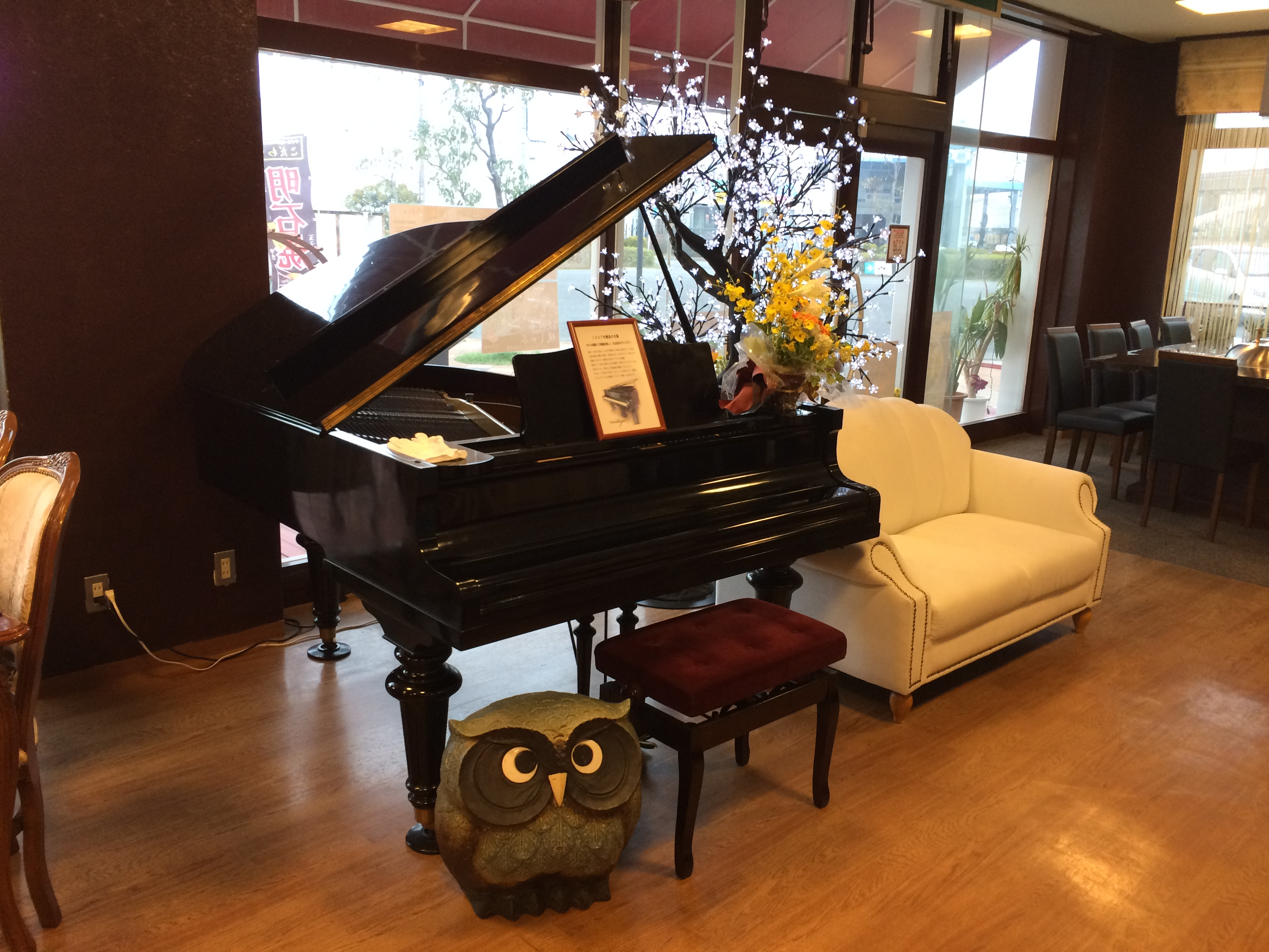 昭和13年製のグランドピアノ