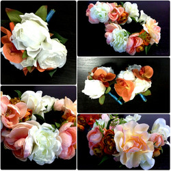 flower girl crowns and bouquets