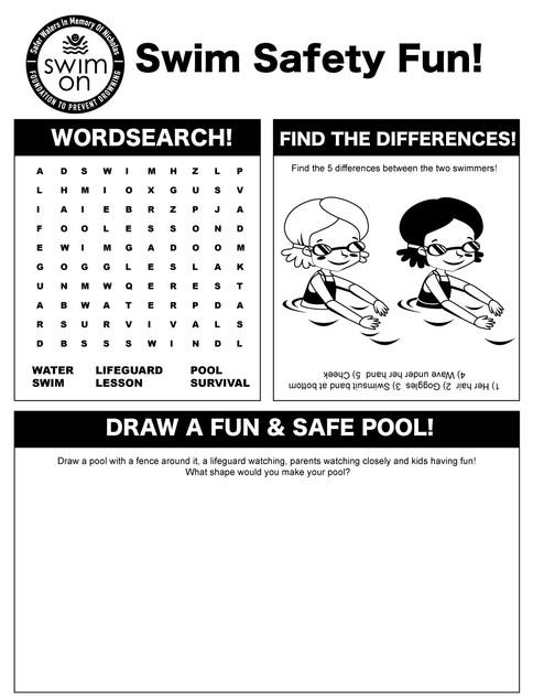 Swim On Activity Sheet