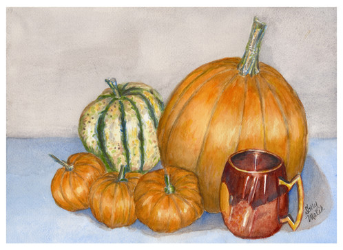 Pumpkins & Gourd Still Life_1