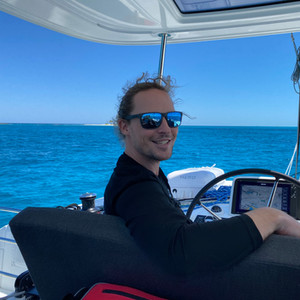 Pieter at the helm
