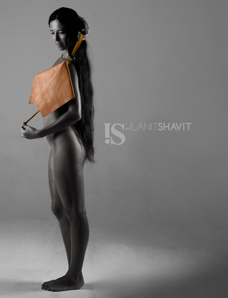 IS by Ilanit Shavit Brown Clutch