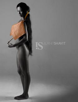 IS by Ilanit Shavit Brown Clutch