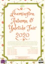 Leamington Seasonal Markets 2020 Poster.
