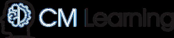 CM Learning - B&W logo