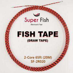 2-strands electrical fish tape red