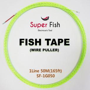 1-strand non-conductive fish tape green