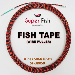 3-Strands electrical fish tapes red