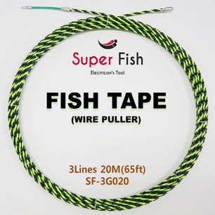 3-Strands electrical fish tapes green