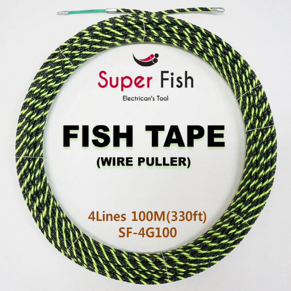 4-strands electrical fish tapes green