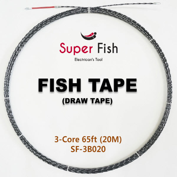 3-Strands electrical fish tapes black